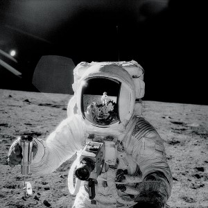 Alan Bean on the Moon; Photo: NASA/Charles Conrad