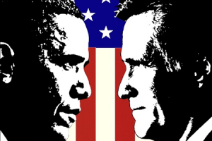 Obama vs. Romney; Photo: OCFamily