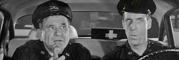 NYPD officers Gunther Toody (Joe E. Ross) and Francis Muldoon (Fred Gwynne) patrolled the Bronx in the 1960s sitcom Car 54, Where Are You?; NPR.org