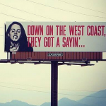 'West Coast' Billboards: Lana Del Rey's Skyward Lyric Marketing